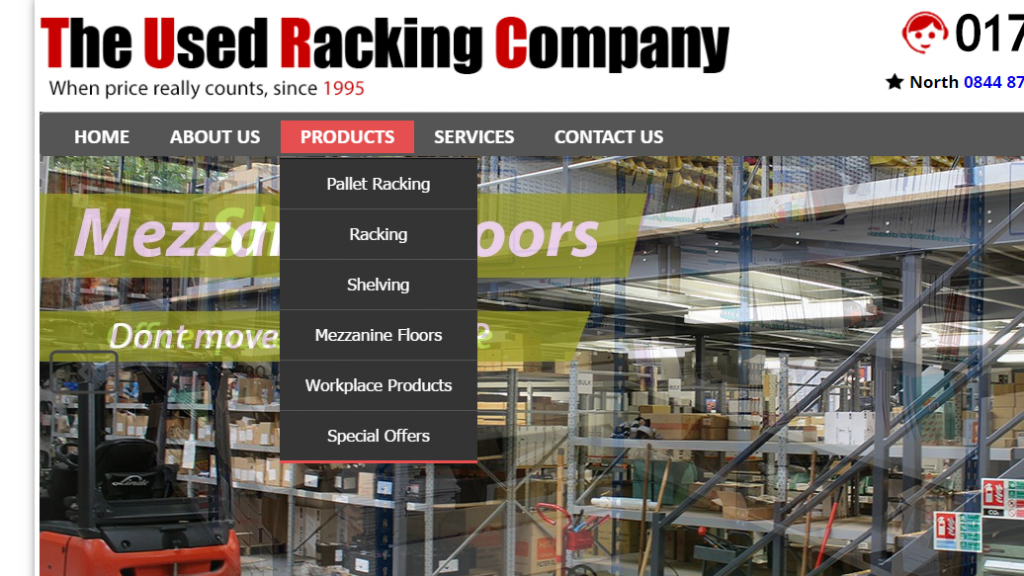 used racking products