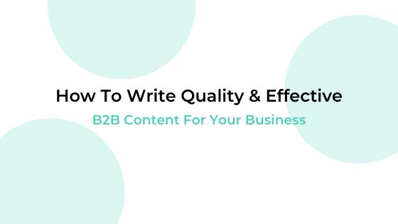 b2b written content