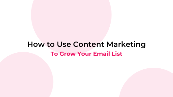 content marketing email list