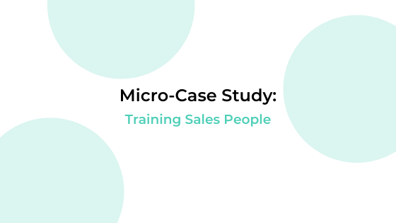 training sales people