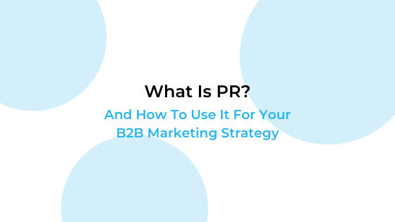 b2b public relations